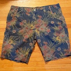 Fresh Brand flat front tropical shorts-sz W38